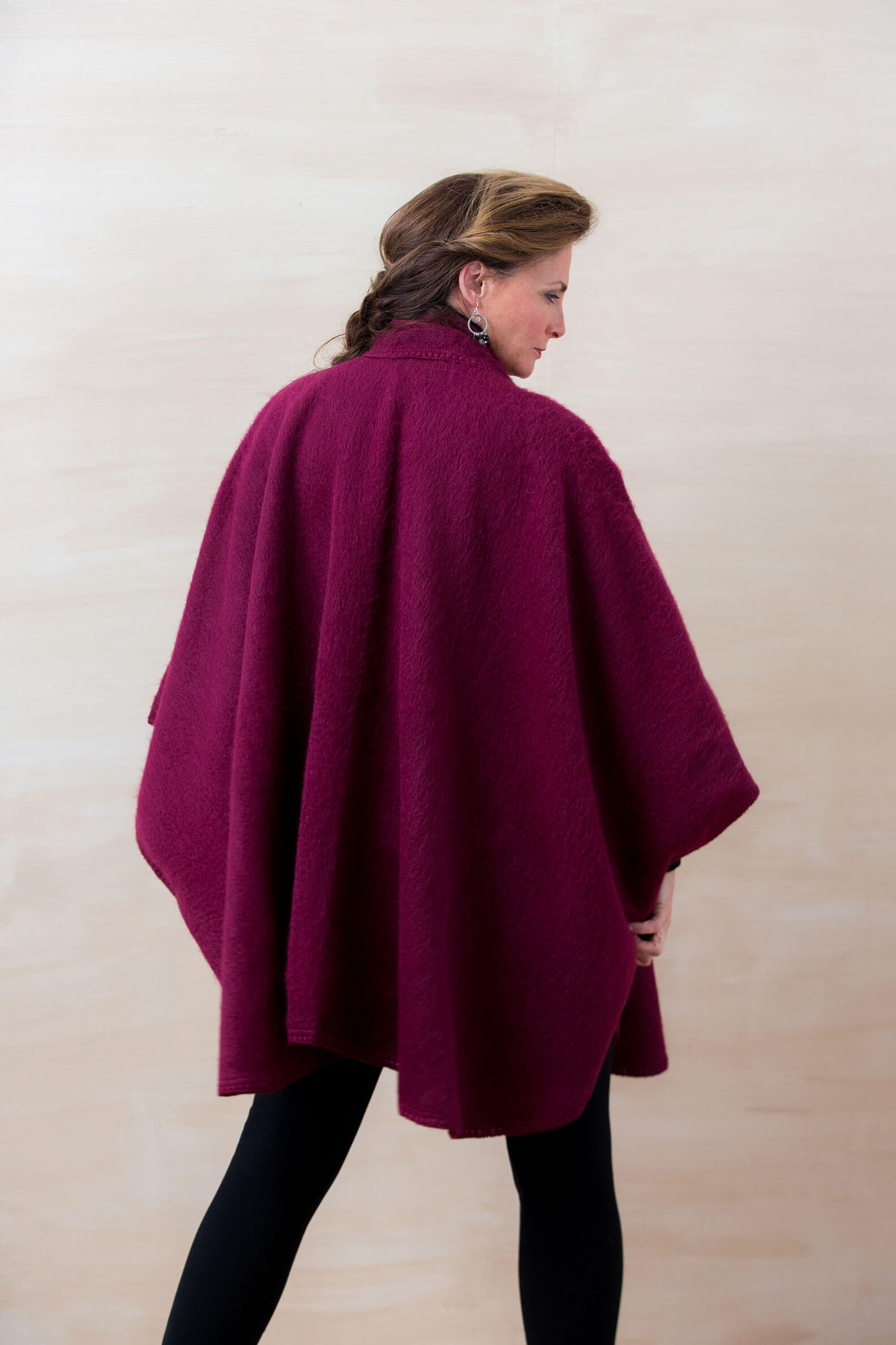 Lined Cape Simply Natural Alpaca