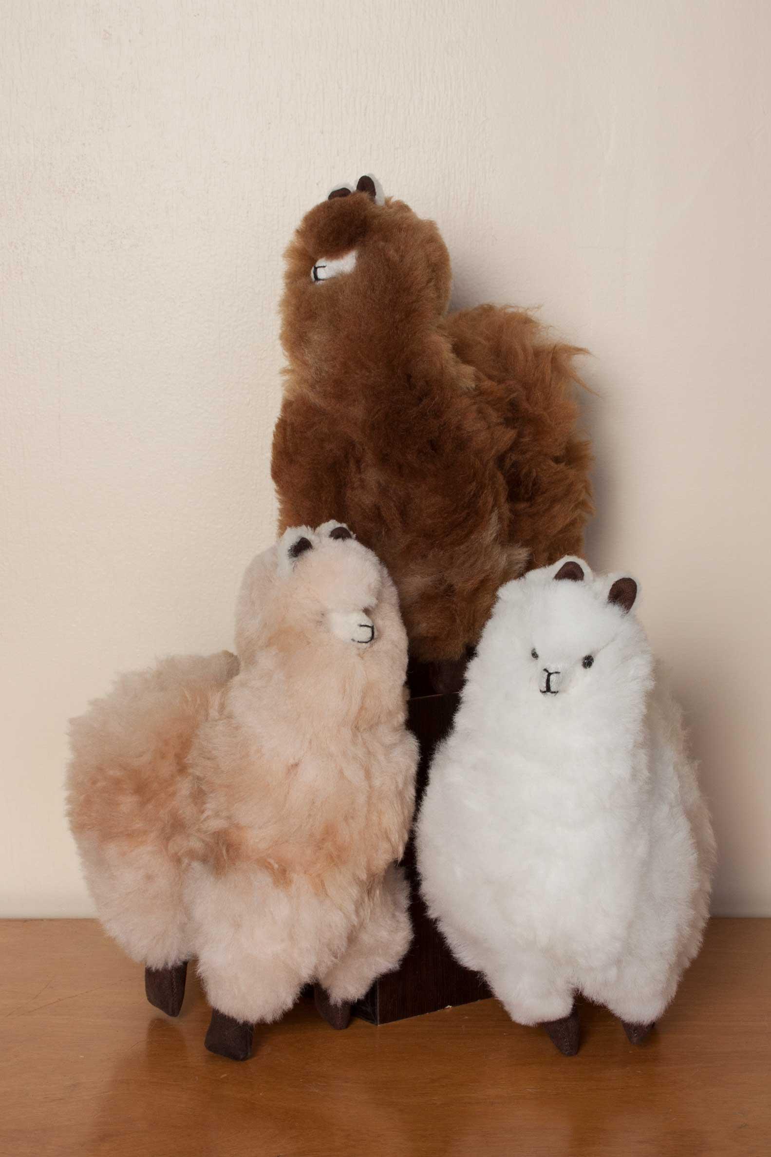 Top Standing Alpaca Doll - Simply Natural Alpaca LK19